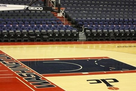 Wizards Unveil New Court At Verizon Center From My Floor